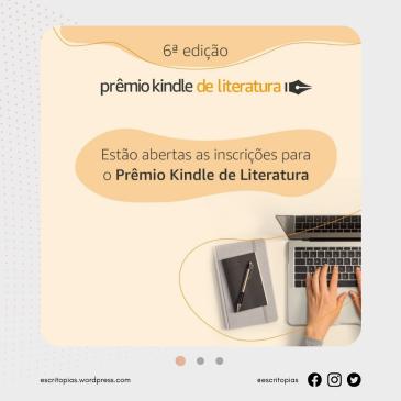 Inscrições abertas para o Prêmio Kindle de Literatura!